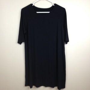 Shein Black Tshirt Dress